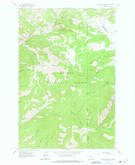 Download a high-resolution, GPS-compatible USGS topo map for Hogback Mountain, MT (1975 edition)