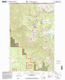 Download a high-resolution, GPS-compatible USGS topo map for Ksanka Peak, MT (2000 edition)