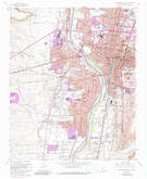 Download a high-resolution, GPS-compatible USGS topo map for Albuquerque West, NM (1985 edition)