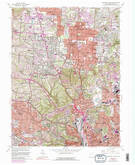 Download a high-resolution, GPS-compatible USGS topo map for Cincinnati West, OH (1989 edition)