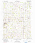 Download a high-resolution, GPS-compatible USGS topo map for Fredricksburg, OH (1990 edition)