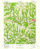 Download a high-resolution, GPS-compatible USGS topo map for Lansing, OH (1961 edition)