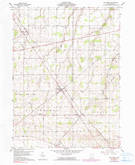 Download a high-resolution, GPS-compatible USGS topo map for New Riegel, OH (1990 edition)