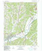 Download a high-resolution, GPS-compatible USGS topo map for Newcomerstown, OH (1993 edition)