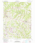 Download a high-resolution, GPS-compatible USGS topo map for Richmond, OH (1990 edition)