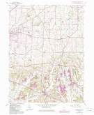 Download a high-resolution, GPS-compatible USGS topo map for Robertsville, OH (1985 edition)