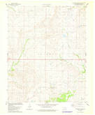 Download a high-resolution, GPS-compatible USGS topo map for Baconrind Creek, OK (1978 edition)