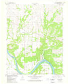 Download a high-resolution, GPS-compatible USGS topo map for Bug Creek, OK (1978 edition)