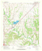 Download a high-resolution, GPS-compatible USGS topo map for Caddo South, OK (1971 edition)