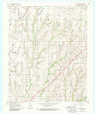 Download a high-resolution, GPS-compatible USGS topo map for Chickasha NE, OK (1986 edition)