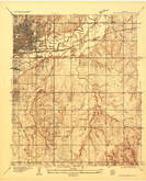 Download a high-resolution, GPS-compatible USGS topo map for Crutcho Creek, OK (1934 edition)