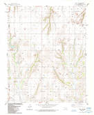 Download a high-resolution, GPS-compatible USGS topo map for Eakly NE, OK (1985 edition)