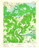 Download a high-resolution, GPS-compatible USGS topo map for Hoffman, OK (1964 edition)