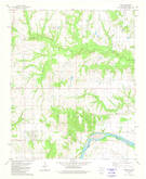 Download a high-resolution, GPS-compatible USGS topo map for Kemp, OK (1981 edition)
