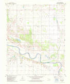 Download a high-resolution, GPS-compatible USGS topo map for Lacey, OK (1983 edition)