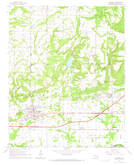 Download a high-resolution, GPS-compatible USGS topo map for Muldrow, OK (1967 edition)
