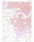 Download a high-resolution, GPS-compatible USGS topo map for Oklahoma City, OK (1976 edition)