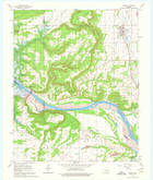 Download a high-resolution, GPS-compatible USGS topo map for Porum, OK (1976 edition)