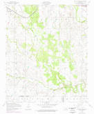 Download a high-resolution, GPS-compatible USGS topo map for Post Oak Creek, OK (1976 edition)