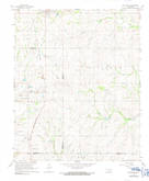 Download a high-resolution, GPS-compatible USGS topo map for Roff South, OK (1991 edition)
