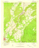 Download a high-resolution, GPS-compatible USGS topo map for Stringtown, OK (1958 edition)