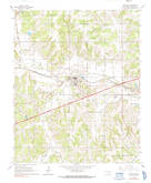 Download a high-resolution, GPS-compatible USGS topo map for Wellston, OK (1991 edition)