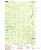 Download a high-resolution, GPS-compatible USGS topo map for Black Butte, OR (1988 edition)