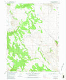 Download a high-resolution, GPS-compatible USGS topo map for Collins Rim, OR (1983 edition)