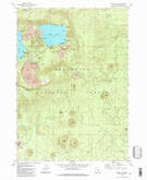 Download a high-resolution, GPS-compatible USGS topo map for East Lake, OR (1982 edition)