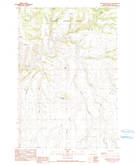 Download a high-resolution, GPS-compatible USGS topo map for Greenwood Butte, OR (1990 edition)