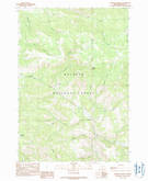 Download a high-resolution, GPS-compatible USGS topo map for Johnson Saddle, OR (1990 edition)