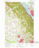 Download a high-resolution, GPS-compatible USGS topo map for Linnton, OR (1961 edition)