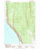Download a high-resolution, GPS-compatible USGS topo map for Modoc Point, OR (1985 edition)