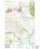 Download a high-resolution, GPS-compatible USGS topo map for Monmouth, OR (1987 edition)