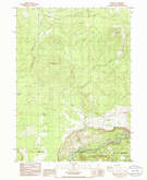 Download a high-resolution, GPS-compatible USGS topo map for Mule Hill, OR (1986 edition)