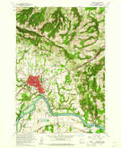 Download a high-resolution, GPS-compatible USGS topo map for Newberg, OR (1961 edition)