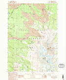 Download a high-resolution, GPS-compatible USGS topo map for North Sister, OR (1988 edition)