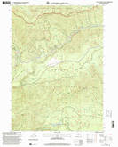 Download a high-resolution, GPS-compatible USGS topo map for Potter Mountain, OR (2000 edition)