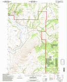 Download a high-resolution, GPS-compatible USGS topo map for Powell Mtn, OR (1997 edition)