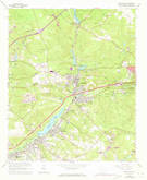 Download a high-resolution, GPS-compatible USGS topo map for Graniteville, SC (1971 edition)