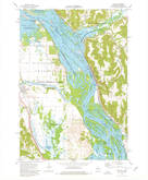Download a high-resolution, GPS-compatible USGS topo map for Alma, WI (1976 edition)