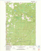 Download a high-resolution, GPS-compatible USGS topo map for Amberg, WI (1983 edition)