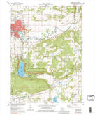 Download a high-resolution, GPS-compatible USGS topo map for Baraboo, WI (1984 edition)