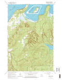 Download a high-resolution, GPS-compatible USGS topo map for Bark Bay, WI (1965 edition)