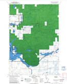 Download a high-resolution, GPS-compatible USGS topo map for Barker Lake, WI (1992 edition)
