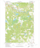 Download a high-resolution, GPS-compatible USGS topo map for Bean Lake, WI (1974 edition)