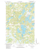 Download a high-resolution, GPS-compatible USGS topo map for Birch Island Lake, WI (1983 edition)