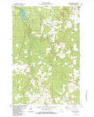 Download a high-resolution, GPS-compatible USGS topo map for Blaine Creek, WI (1984 edition)