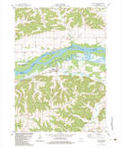 Download a high-resolution, GPS-compatible USGS topo map for Blue River, WI (1983 edition)