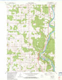 Download a high-resolution, GPS-compatible USGS topo map for Brokaw, WI (1983 edition)